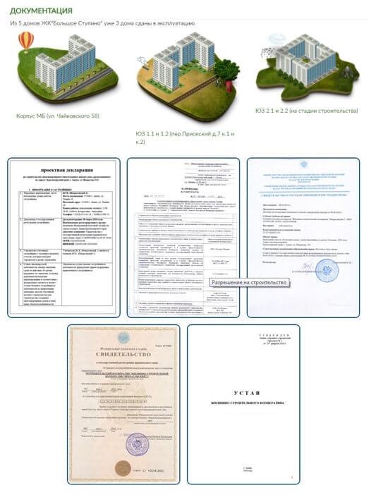 Пример размещения документации на сайте