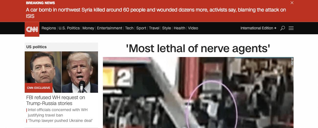Сайт CNN