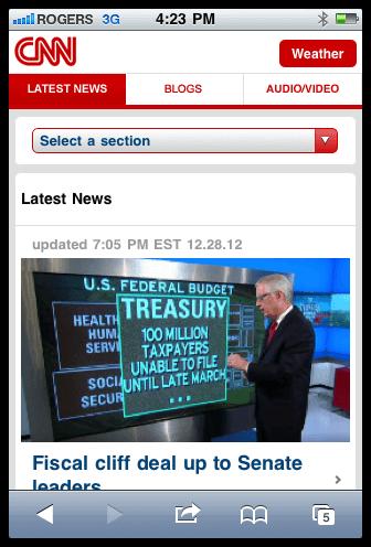 CNN мобильная версия
