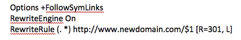 Редирект на новый домен