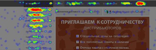 Наиболее кликабельные элементы сайта запорной аппаратуры