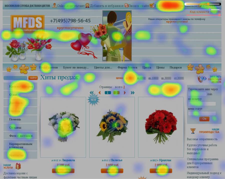 Продвижение сайта услуги по доставке цветов