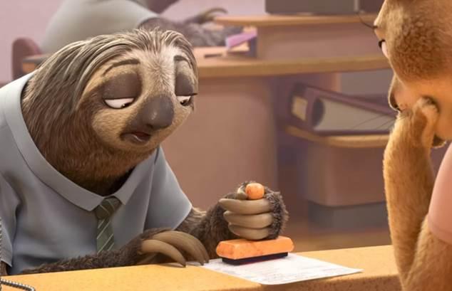 Ленивец из «Зверополис»