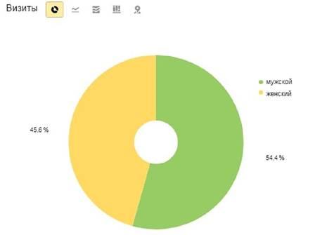график посещения сайта