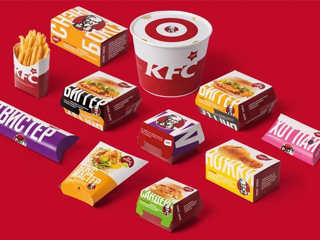 Новый дизайн коробок KFC
