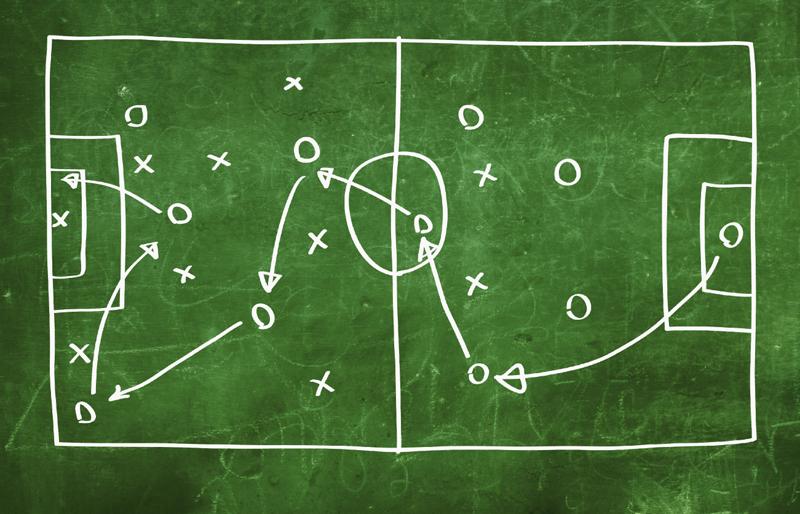 Схема работы команды на футбольном поле
