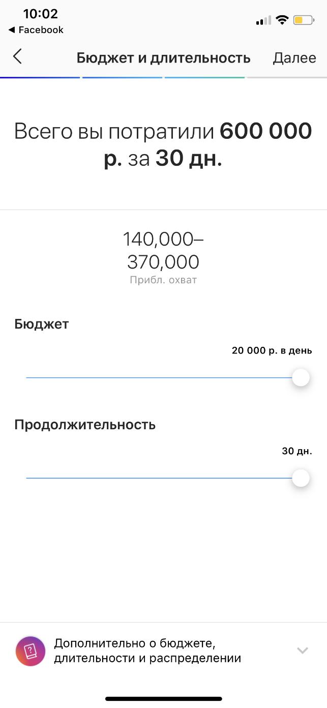 скриншот бюджета