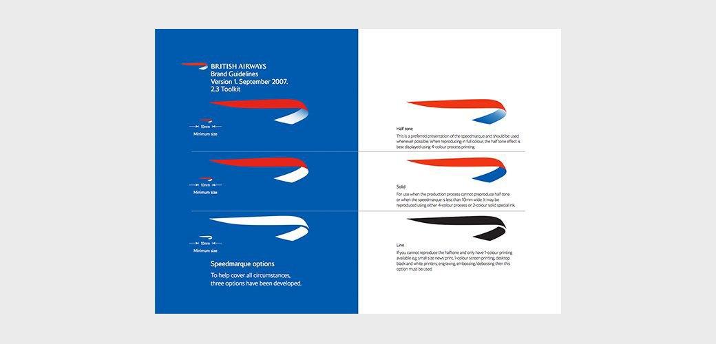 скриншот, British Airways логобук