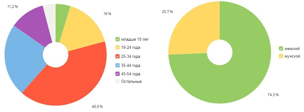 скриншот, пол и возраст аудитории эниленд